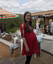35 weeks pregnant at my baby shower!
